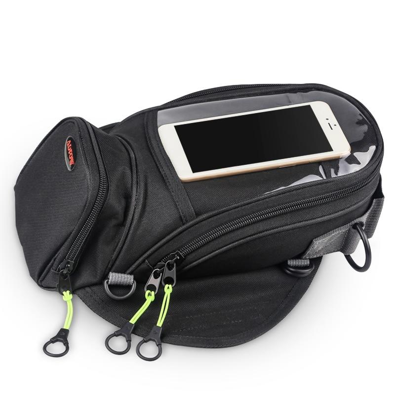 Magnetic Motorcycle Tank Bag Fixed Straps For Mobile Phone Navigation Multifunctional Motorbike Fuel Oil Bag Package Motor