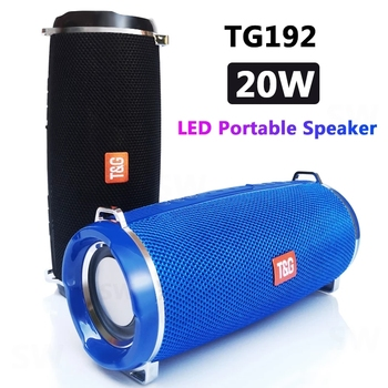 Powerful TG192 portable bluetooth speaker outdoor Column Computer Wireless Speakers Subwoofer BoomBox Music-Center-Radio