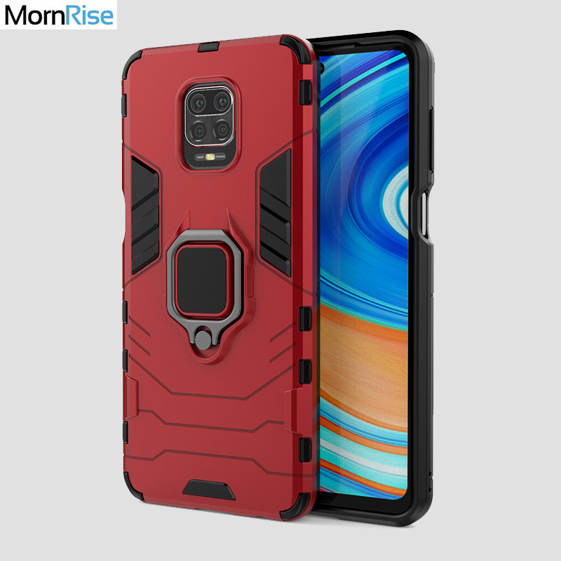 Tough Hybrid Armor Protective Cover For Xiaomi Redmi <font><b>Note</b></font> 9S <font><b>9</b></font> Pro <font><b>Case</b></font> <font><b>With</b></font> Magnetic Finger <font><b>Ring</b></font> Socket Stand Phone <font><b>Case</b></font> Fundas image