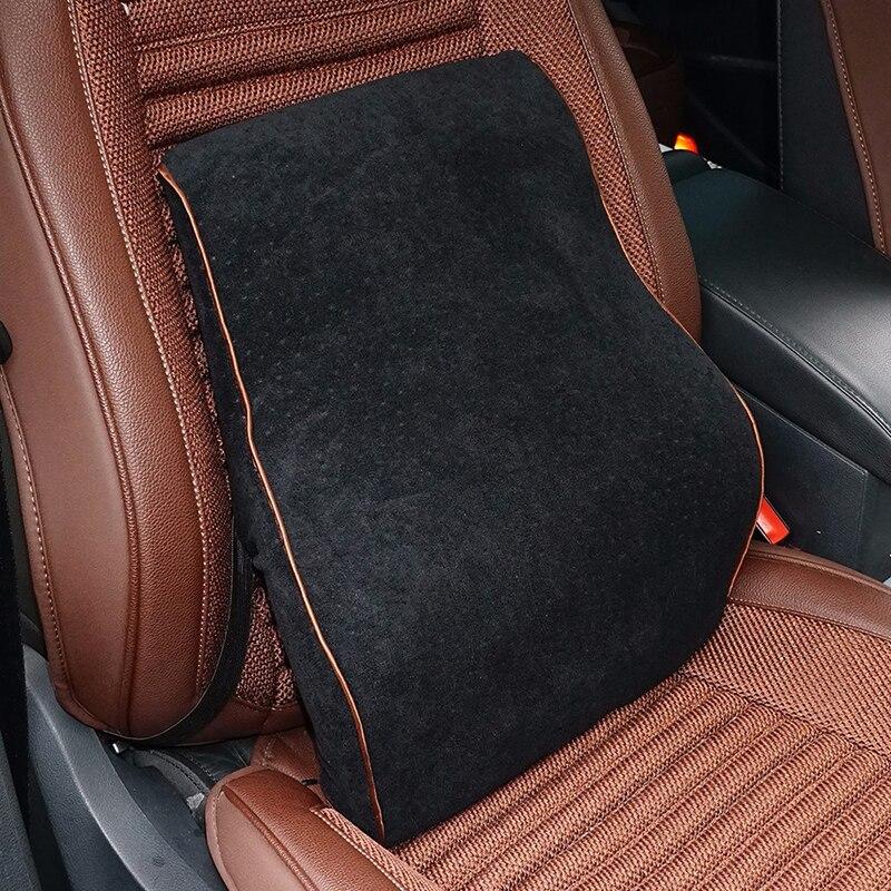 Car Lumbar Cotton Headrest Neck Pillow To Comfort Lower Back Pain 4
