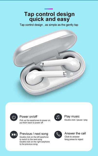 MissAudio YINYOO Q70 Bluetooth 5 0 TWS Wireless Earphone Blutooth Noise Cancelling Earphone Handsfree In Ear Sport Earbud Q65