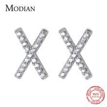 Modian 925 стерлингового серебра Ослепительная Ясно cz x Форма