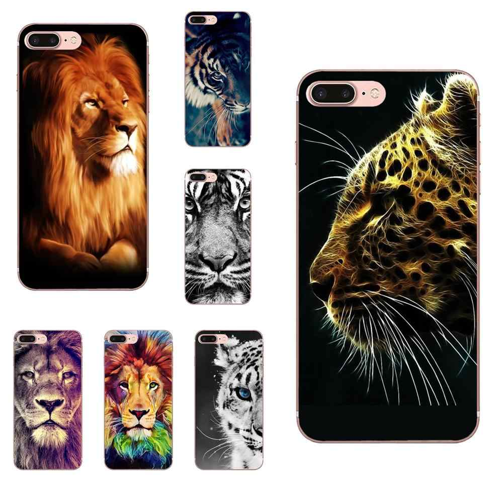 Ultra Thin Lion Tiger Design For Samsung Galaxy Note 5 8 9 S3 S4 S5 S6 S7 S8 S9 S10 5G mini Edge Plus Lite TPU Fashion