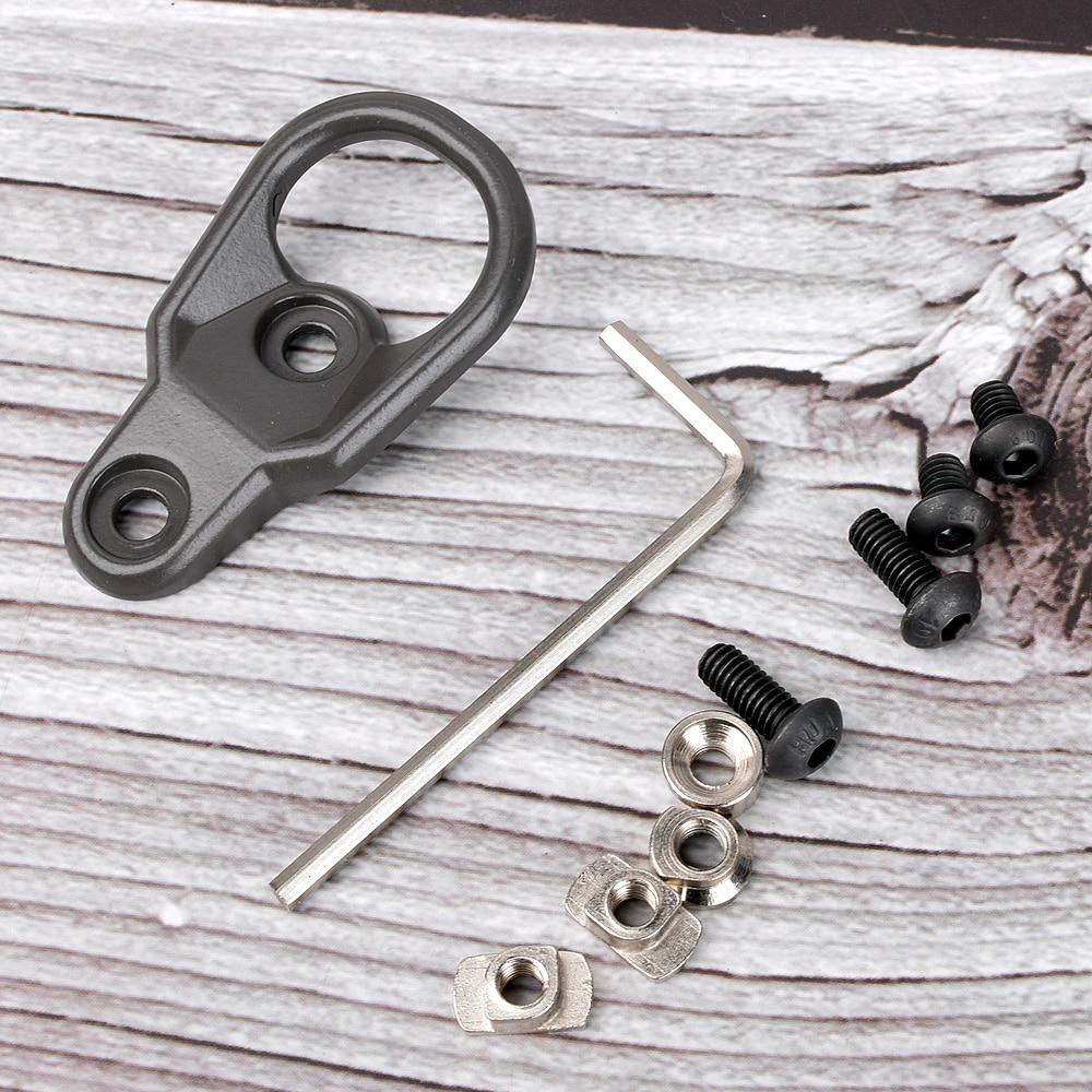 Tactical MLOK Handguard Sling Mount Adapter KeyMod Slings For Key Mod System And M-LOK Hand Guard Accessaries AR15 AK47 AK74(China)