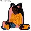 Nopersonality милые сумки для детского сада  школы  черный Африканский принт для девочек  основной школьный рюкзак для девочек  сумка на плечо