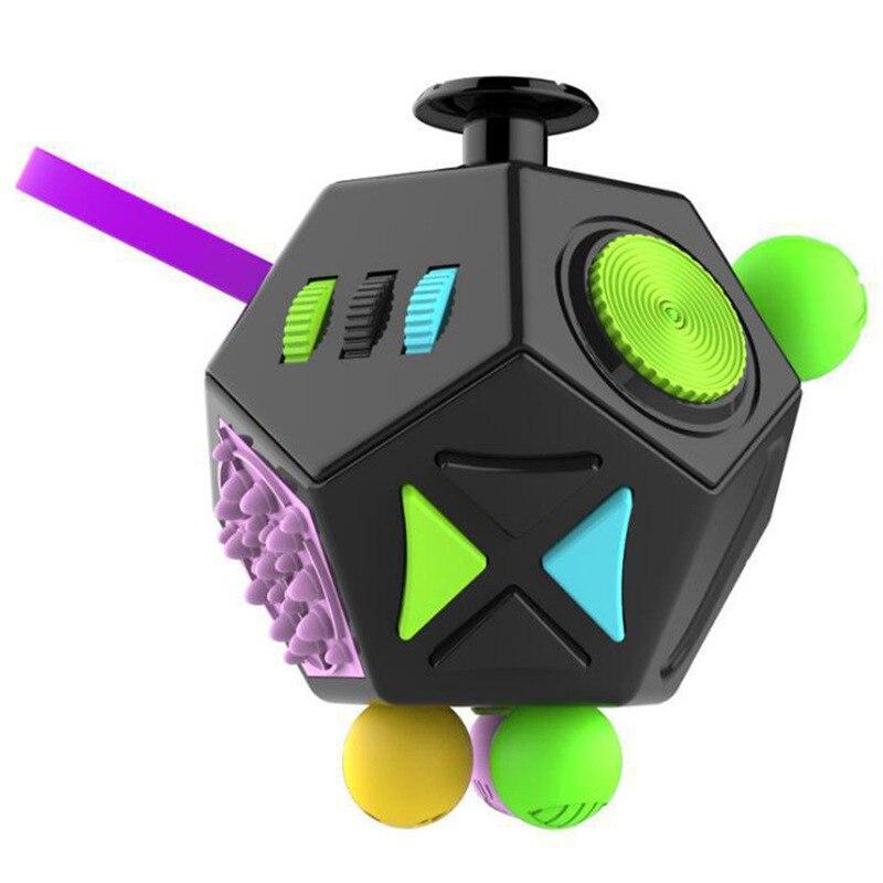 12 cubo de descompressão lateral crianças adulto divertido cubo brinquedos aliviar o estresse imprensa anti stress ansiedade depressão alívio cubos mágicos