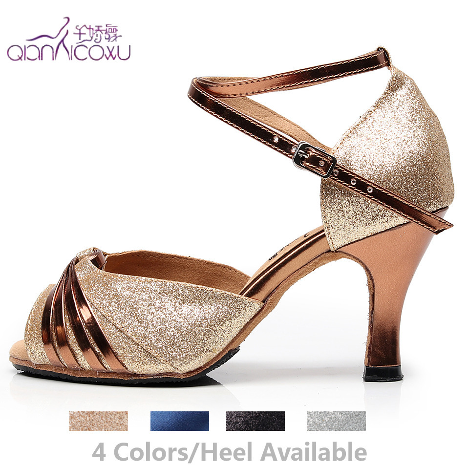 Jazz Salsa Ballroom Latin Tan Purple Dance Shoes For Dancing Women Plus Size Girl Heels Women Pole Black Summer Woman Sandals