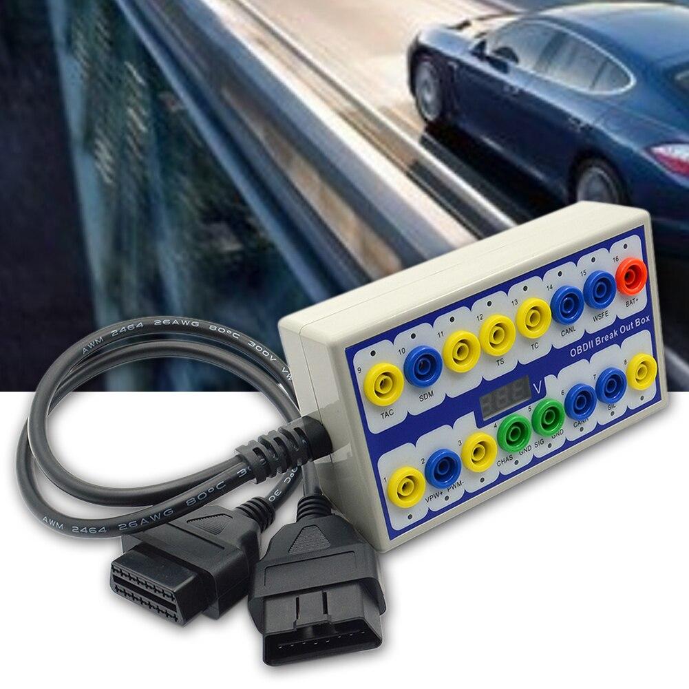 Professionnel Auto voiture OBD 2 briser boîte outils de Diagnostic testeur détecteur OBDII protocole détecteur Diagnostic connecteur détecteur