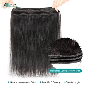 Image 3 - Malaysian Straight Hair Bundles With Frontal Allove Human Hair 3 Bundles With Closure 13X4 Lace Frontal With Bundles Non Remy