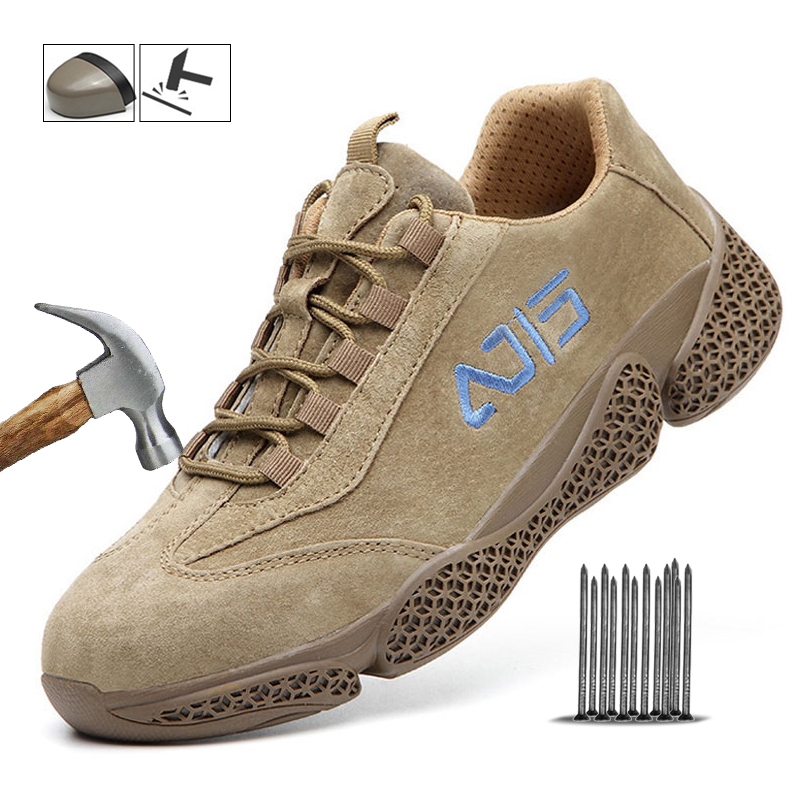 Safety Shoes Men Steel Toe Indestructible Work Safety Shoes Puncture-proof Male Safety Work Shoes Safety Boots Dropshipping