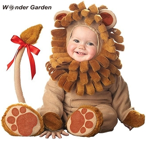 Maravilha jardim infantil da criança do bebê meninas bonito pequeno leão animal halloween cosplay traje purim feriado traje