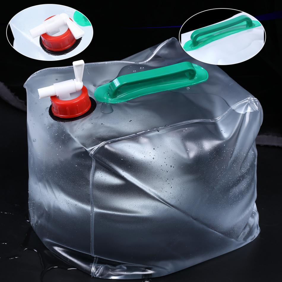 20л открытый складной вода бутылка сумка ПВХ большой складной регулировка квадрат питьевая вода сумка дом кемпинг пикник пеший туризм устройство