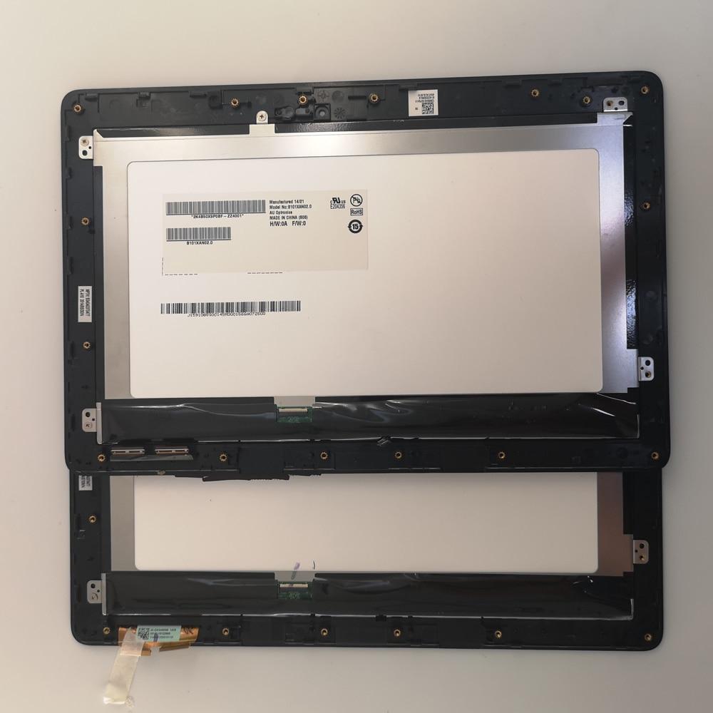 Verwendet teile 10,1 ZOLL LCD Display Matrix Touchscreen Digitizer mit rahmen Für Asus VivoTab Smart T100TA T100 T100TAF arbeit feine