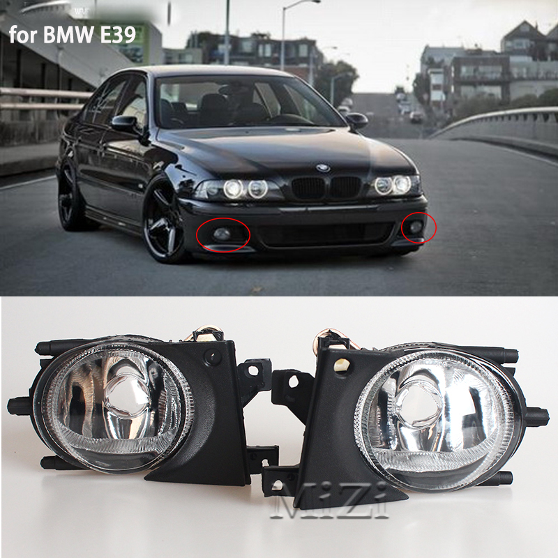 MZORANGE 1 Pair Front Fog Light without Bulb For BMW E39 1999-2004 Lights Lamp Car Accessories Styling