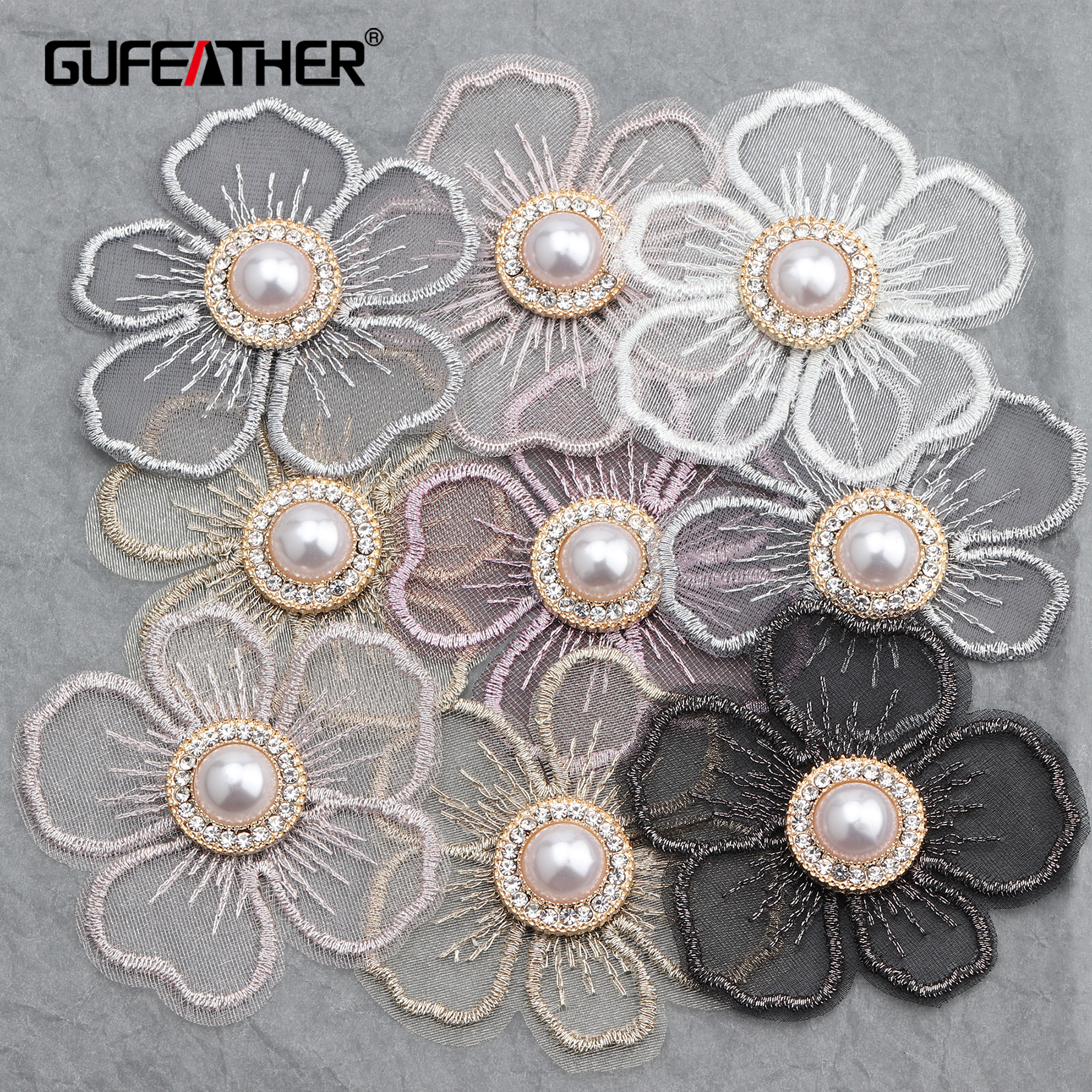 GUFEATHER L222,jewelry Making,diy Flower Beads Pendant,flower Shape,hand Made Accessories,copper Metal,diy Earrings,10pcs/lot