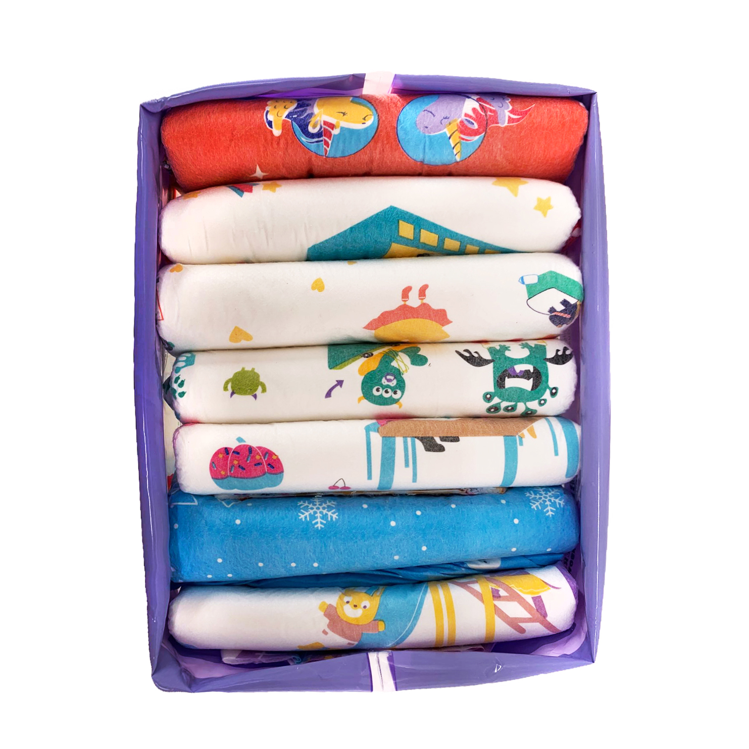TEN@NIGHT Rainbow Week Diaper ABDL Extra Large Size Christmas Diaper Stretchy Waist DDLG Diaper Dummy Different 7pcs In A Pack