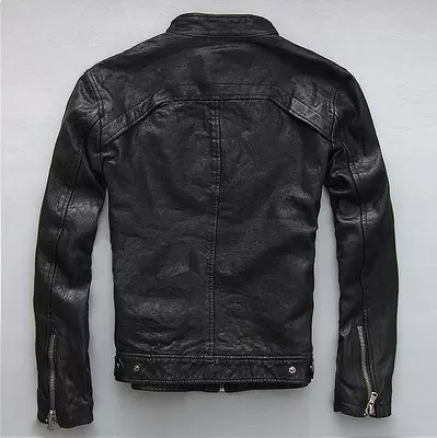 Spring Autumn Men's Genuine Leather Jacket Short Slim Motocycle Jackets For Men Outerwear Jaqueta De Couro MF030