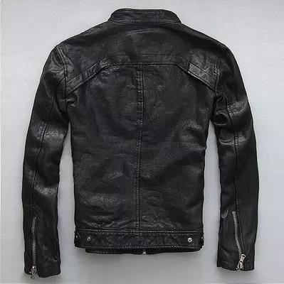 Spring Autumn Men's Genuine Leather Jacket Short Slim Motocycle Jackets For Men Outerwear Jaqueta De Couro MF030