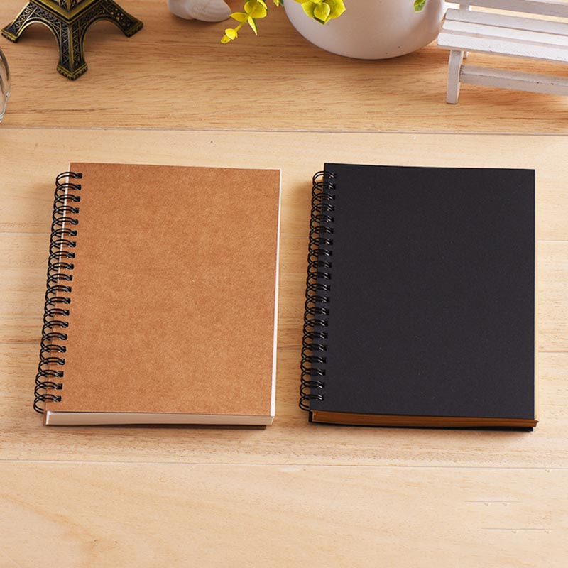 Sketchbook Diary for Drawing Painting Graffiti Soft Cover Black Paper Sketch Book Memo Pad Notebook Office School Supplie 2