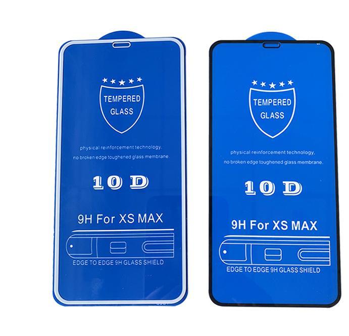 50 ピース/ロット AAAA 品質 iphone XS 最大 XR × 律保護ガラス 10D フル用 iphone 6 7 8 6S プラス  グループ上の 携帯電話 & 電気通信 からの 電話 スクリーンプロテクター の中 1