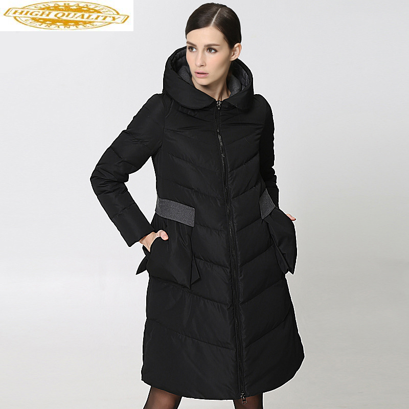 2020 Long Down Jacket Woman Hooded Winter Coat Puffer Jacket Women Korean Warm Duck Down Coats Doudoune Femme Hiver 286 KJ2759