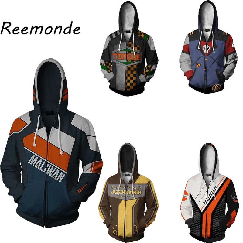 Borderlands Hoodie Men Clothing Siren 2 Maya Cosplay Hoodies Sweatshirts Hat Jacket Clothes Streetwear Mens Borderlands Costume