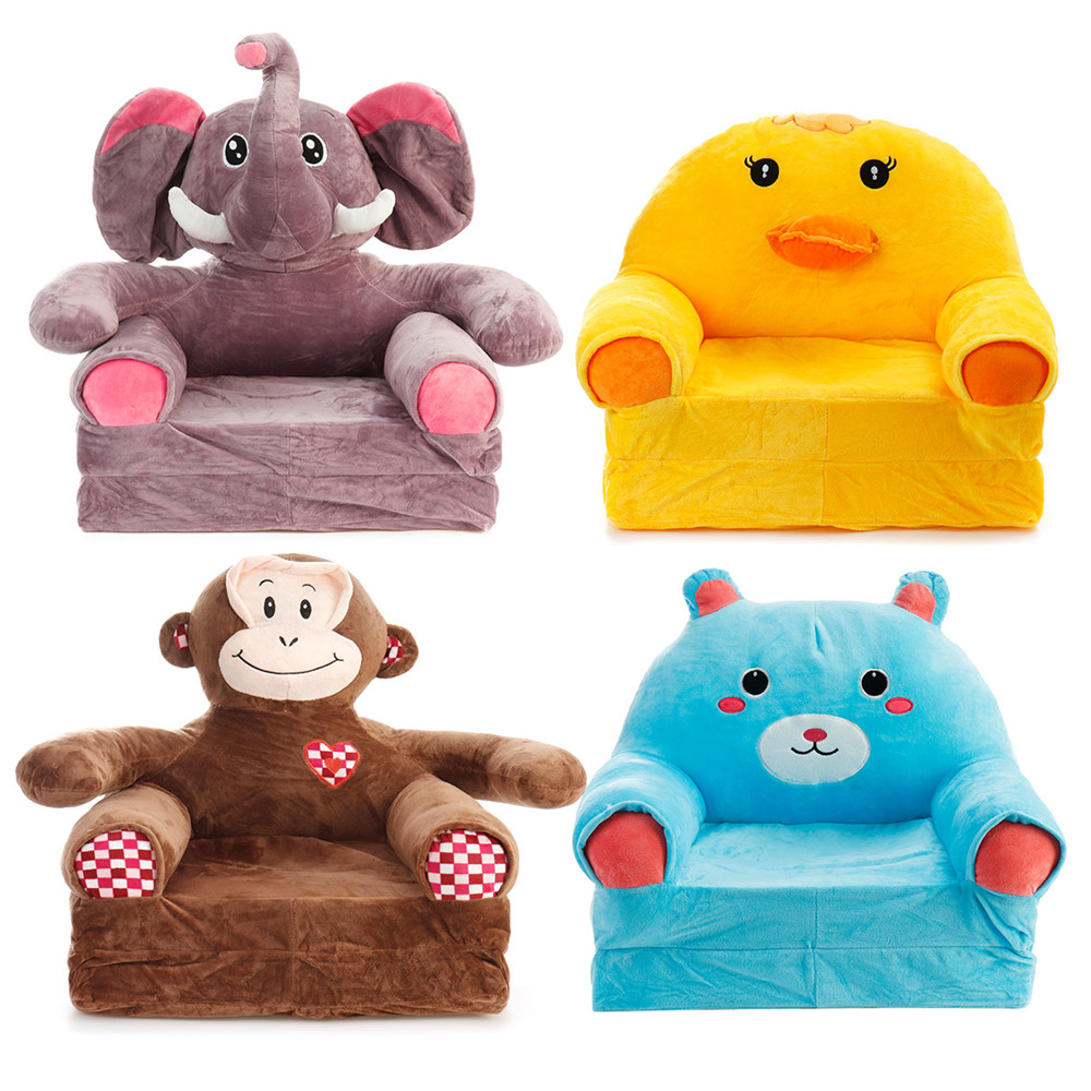 Animal Children Foldbale Sofa Baby Tatami Sofa Plush Kids Toy Cartoon Sofa Seat Gifts For Girls Birthday Gift Lounger Bed Sofa