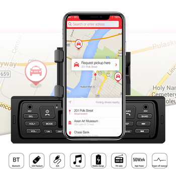 1 Din Car Stereo FM Radio MP3 Audio Player USB Multi-Function Lossless Car Radio Built in Bluetooth Aux Function doitop built in bluetooth wall mount cd player prenatal audio english repetition learning machine support cd aux usb fm play hot