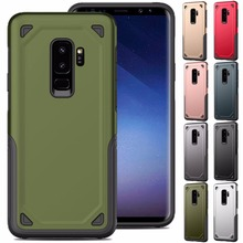 Luxury Military Shockproof Rugged Armor Phone Case For Samsung Galaxy S10 S8 S9 Plus S10e Hybrid PC+TPU Armour Defend Cover