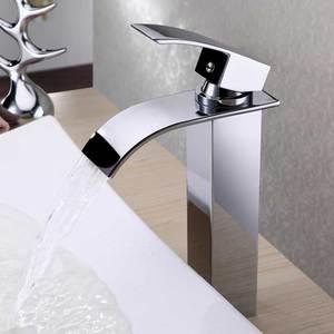 Image 4 - Robinet de salle de bain noir mat cascade mitigeur torneira pour lavabo mitigeur chaud et froid