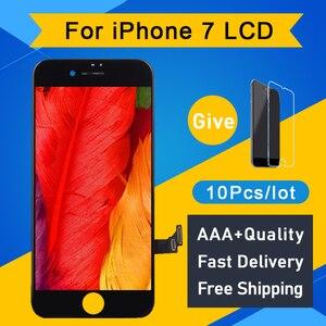Image 1 - 10 adet/grup 100% Test AAA hiçbir ölü piksel IPhone 7 için LCD ekran dokunmatik ekran Digitizer meclisi yedek siyah beyaz ücretsiz DHL