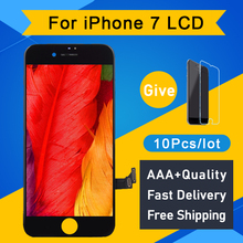 10Pcs/lot 100% Test AAA No Dead Pixel For IPhone 7 LCD Display Touch Screen Digitizer Assembly Replacement Black White free DHL