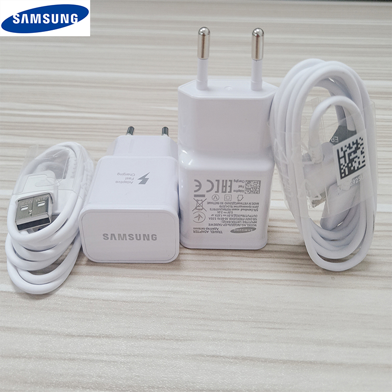 Samsung Fast Charger USB Power Adapter 9V 1 67A Quick Charge Type C Cable for Galaxy S10 S8 S9 Plus A30 A50 A70 2017 note 8 9 in Mobile Phone Chargers from Cellphones Telecommunications