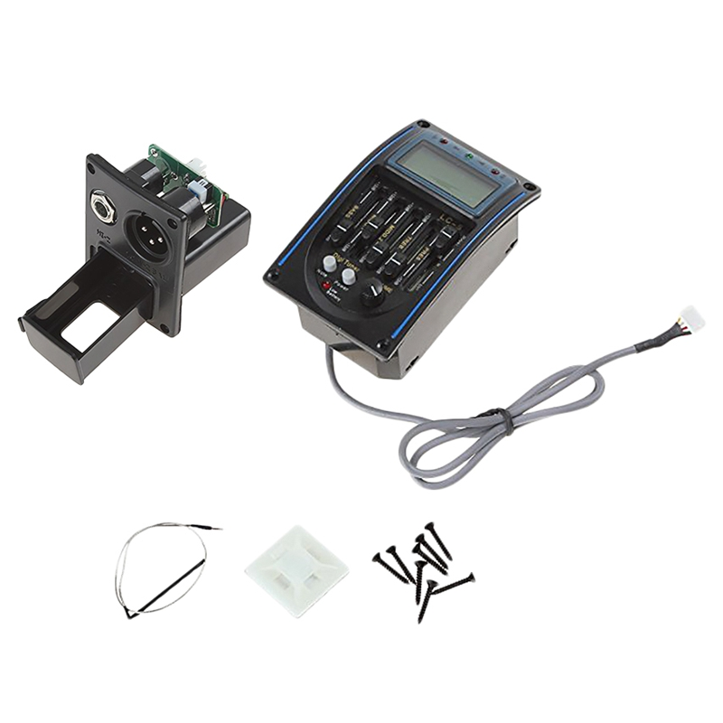 ABUO-1pc Lc 5 Band Guitar Pickup Tuner Acoustic Electric Guitar Bass Preamplifier Eq Equalizer thumbnail