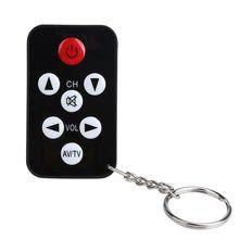Universal Infrared Wireless IR TV Controller 7 Keys Television Keychain Remote C