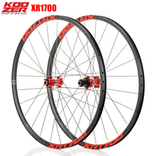 KOOZER XR1700 الدراجة الجبلية MTB 26 27.5 بوصة العجلات 6 مخلب مختومة تحمل QR من خلال محور دراجة القرص براكي عجلات DT تكلم 24H