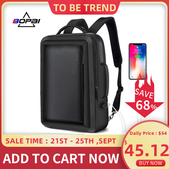 BOPAI Men Backpack Enlarge Anti theft Laptop Backpack for 15.6 Inches USB External Charge Multifunction Business Backpack Men bopai usb external charge enlarge anti theft laptop backpack for school multifunction laptop bag 15 6 inch men backpack travel