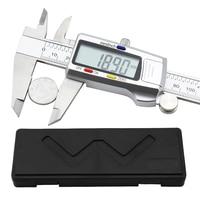 Electronic Digital Vernier Caliper 6 Inch 150mm Stainless Steel Electronic Caliper Micrometer Depth Measuring Tools CALIPER|Calipers| |  -