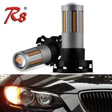 2Pcs Car LED Turn Corner Light Bulbs PY24W Amber Yellow AC 12V 2500LM Canbus No Hyper Flash For E90 E92 F10 3Series 5Series