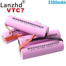 Oryginalna bateria 18650 3.7v akumulatory do Samsung 18650 35E litowo-jonowy 3300mAh VTC7 + DIY nikiel (8-40 sztuk)