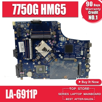 7750G motherbaord para portátil For Acer aspire placa base 7750 7750G MBRN802001...