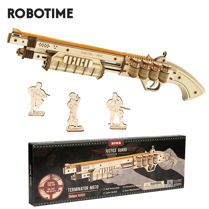 Robotime Gun Model Buliding Kit Toys Assembly Games Gift For Children Kids Boys Birthday Gift