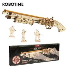 Robotime modelo de bloques de pistola para niños, juego de construcción, juguetes, regalo de cumpleaños para niños, regalo