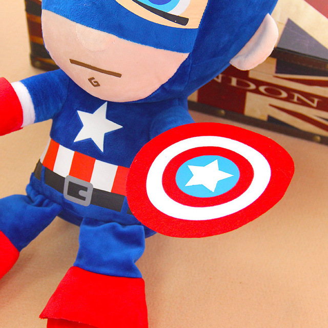27cm Man Spiderman Plush Toys Movie Dolls Marvel Avengers Soft Stuffed Hero Captain America Iron Christmas Gifts for Kids Disney 5