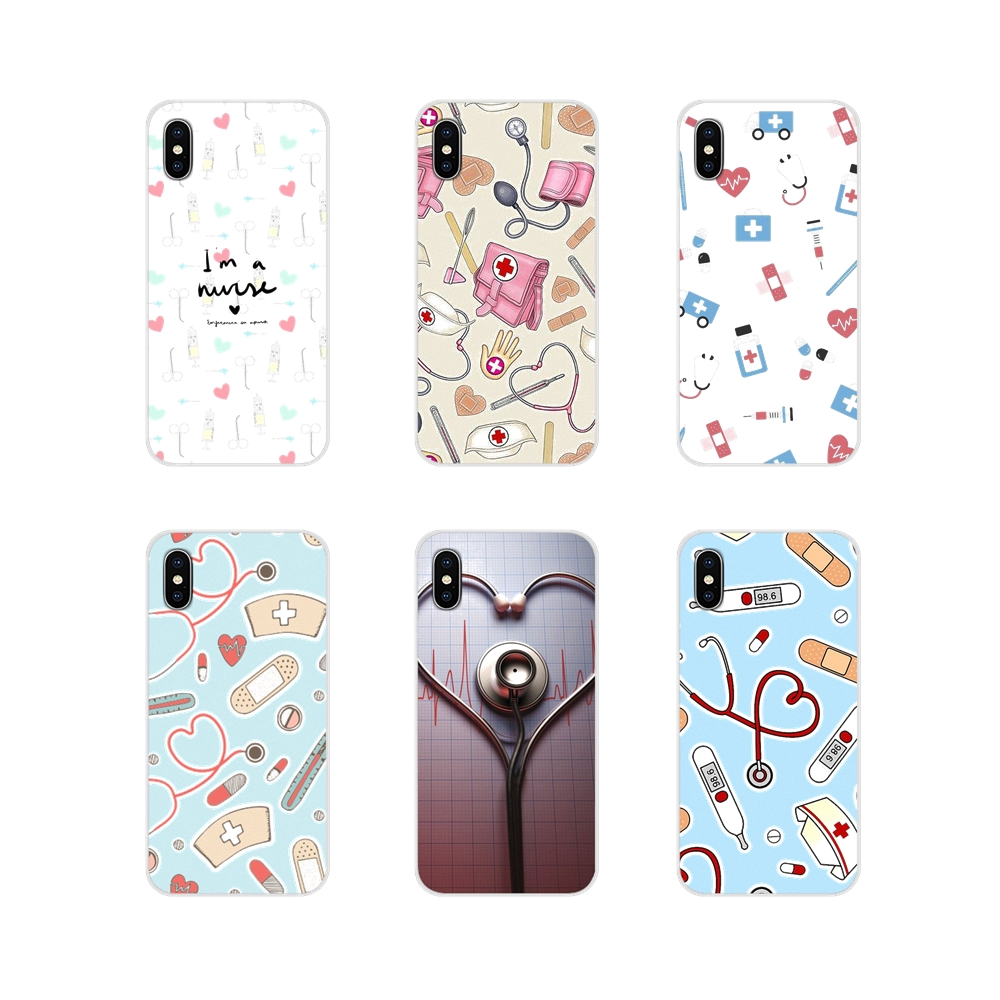 Soft TPU Cover For LG G3 G4 Mini G5 G6 G7 Q6 Q7 Q8 Q9 V10 V20 V30 X Power 2 3 K10 K4 K8 2017 Nurse Medical Medicine Health Heart