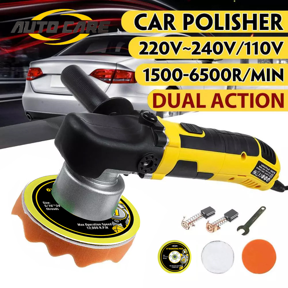 High Quality Electric Dual Action Shock Polisher 220V Polishing Waxing Machine Adjustable Speed Self-lock Random