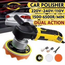 Pulidora de choque de acción Dual eléctrica de alta calidad, máquina de cera de pulido de 220V, velocidad ajustable, autobloqueo aleatorio