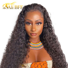 4*4 water wave wiig 28Inch Indian Water Wave Curly Human Hair Wigs 250 Density Lace Frontal Wig Malaysia Lace Wig Human Hair 10A