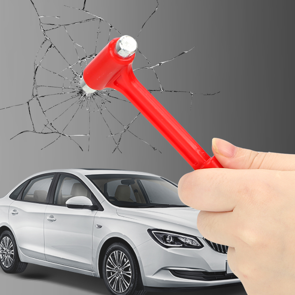 LEEPEE Car Safety Escape Glass Window Breaker Emergency Hammer Mini Seat Belt Cutter Car Safety Hammer Life-Saving image