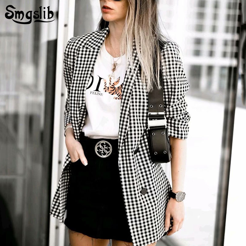 Elegant Women Blazer Suit 2019 Office Ladies Fashion Blazers Notched Collar Jackets Korean Girls Casual Outfits Suits